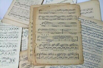 ~~100g OF VINTAGE MUSIC SHEETS - CHRISTMAS CRAFTS. DECOUPAGE CARD MAKING 5