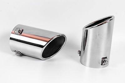 2X Auspuffblenden aus Edelstahl für VW Golf, Endrohr Auspuff - Markenware -