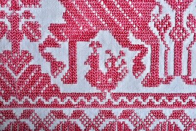 ANTIQUE 19th CENTURY MOROCCAN? GREEK? RUSSIAN? EMBROIDERY TEXTILE HORSES 6