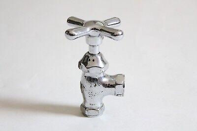 antique faucet shut off angle valve | vtg deco victorian bath plumbing cross 2