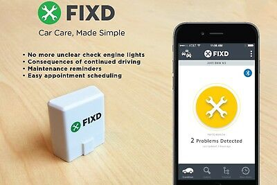 Fixd Obd-Ii Active Car Health Monitor Engine Code Reader Diagnostic Scanner Tool 2