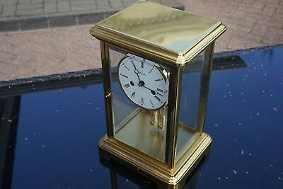 A Large Four glass mantel carriage clock by Angelus 2