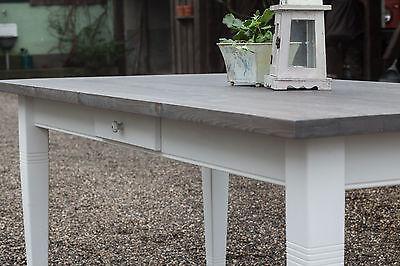 Esstisch tisch esszimmer massivholz landhaus 200 cm m01 for Esstisch massivholz grau