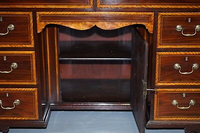 Stunning Victorian 1880 Edward & Roberts Satinwood & Walnut Partner Desk Rare!!! 12