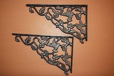 "(8) Hummingbird Design Patio Corbels, Huge Cast Iron Hummingbird, 11 7/8"", B-40 2"