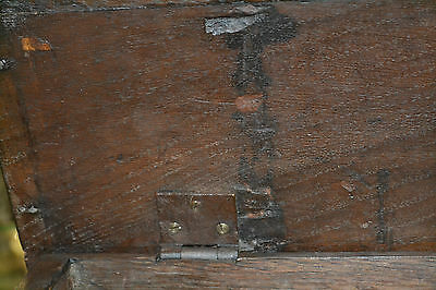 Fine quality antique 18th century Oak bible box with inlay on later stand, c1760 11