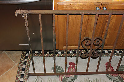 Vintage Wrought Cast Iron Architectural Garden Yard Art Fence Railing-LQQK 2