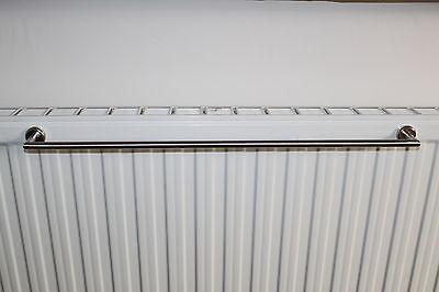 edelstahl handtuchhalter 50 cm magnet befestigung f r heizk rper ohne kleben eur 27 00. Black Bedroom Furniture Sets. Home Design Ideas
