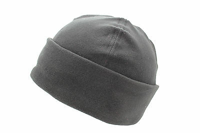 Unisex Negro Forro Polar Invierno Esquí Sombrero BOB Cálido Con vuelta Gorro 2