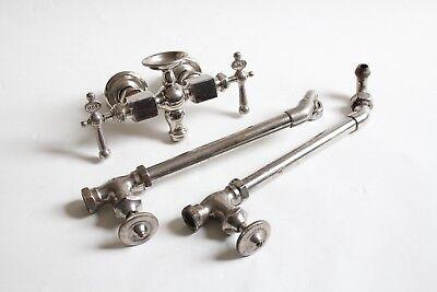 antique faucet tub filler sink shut off valves   vtg mixing faucet victorian 3