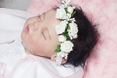 Haarband Mädchen Baby Stirnband Haarschmuck Kopfband Taufe Blumenmädchen Neu Baby