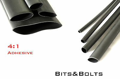 3:1 & 4:1Black Adhesive Heat shrink Waterproof HeatShrink Glue Lined Tube Sleeve