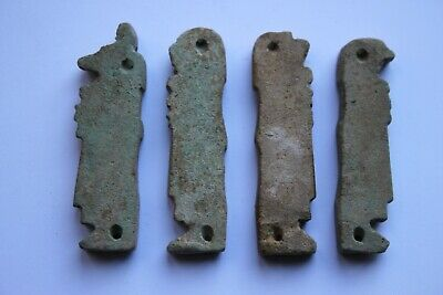 Ancient Egyptian Faience Four Sons of RA Amulets 30th Dynasty c.380 BC 2