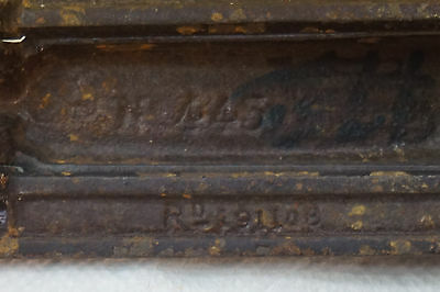 ANTIQUE DOOR KNOCKER AND MAIL SLOT LETTERS CAST IRON KENRICK NO 445 hardware 5