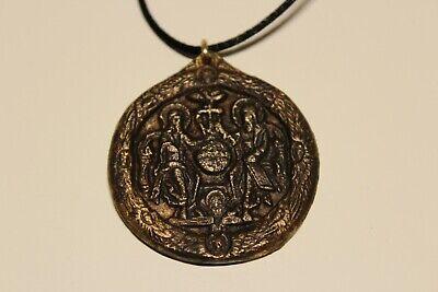 Post Medieval Beautiful Men's Bronze Large 38Mm Christian Orthodox Pendant 2