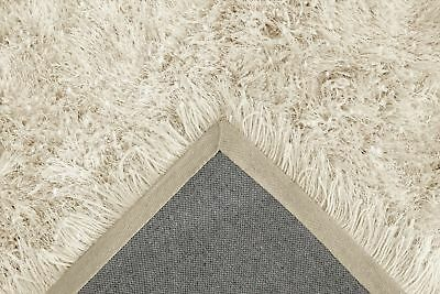 Ivory Cream Large SHAGGY Floor RUG Soft SPARKLE Shimmer Extra Thick 9cm Pile 8