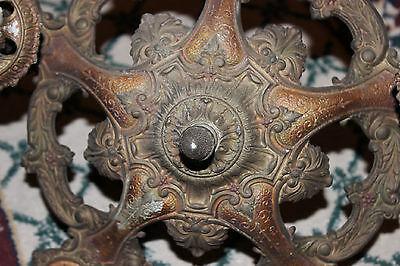 Antique Victorian Art Deco Ceiling Chandelier Light Fixture-Lion Electric Co. 10 • CAD $254.04