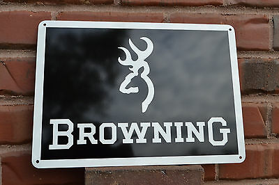 Browning Sports Optics Metal Tin Riflescope Sign New Old Stock