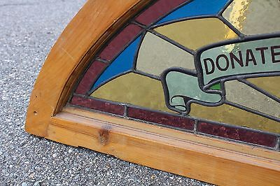 Arched Top Antique Victorian Stained Glass Window Architectural Salvage Church 4