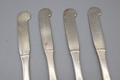"""Hans Hansen Susanne Sterling Silver Butter Spreader Knife – 6 1/8"""" – Set of 4 3"""