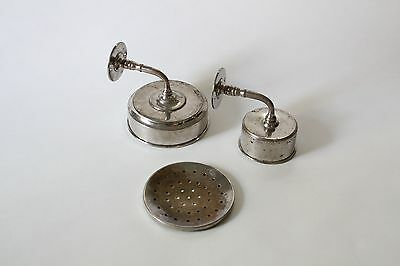 antique bathroom cup soap holder | vtg brass nickel victorian bath tumbler 4