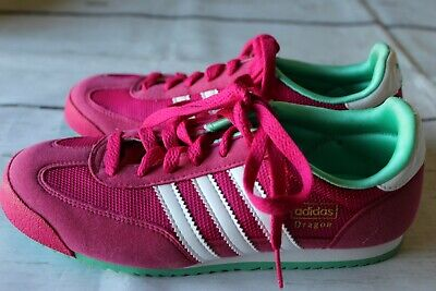 ADIDAS DRAGON ORIGINALS Women's Shoes Pink with Mint Suede Retro ...