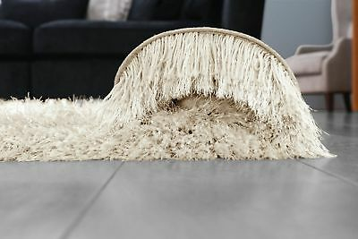 Ivory Cream Large SHAGGY Floor RUG Soft SPARKLE Shimmer Extra Thick 9cm Pile 3