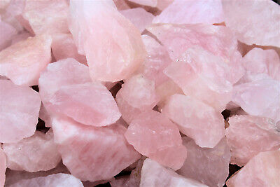 1/4 lb Bulk Lot Natural Rough Rose Quartz Crystals (Raw Reiki Love Healing 4 oz) 5