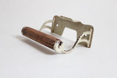 antique toilet paper holder towel post ends | vtg deco cigar rest victorian bath 3