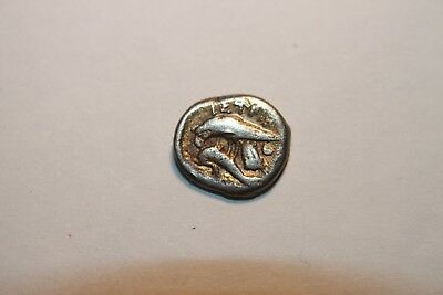 ANCIENT GREEK SILVER ISTROS 1/4 Stater 3rd CENTURY BC 2
