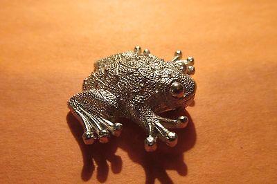 Pewter Frog Figurine