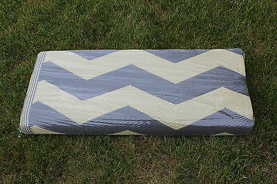 ... RV PATIO RUG INDOOR OUTDOOR CAMPING MAT CHEVRON PATTERN 9x12 2 - RV PATIO RUG INDOOR OUTDOOR CAMPING MAT CHEVRON PATTERN 9x12
