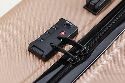24 inch 65L Medium size Luggage Trolley Travel Bag 4 Wheels TSA lock hard case 5