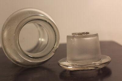 Apotheker Flasche Glas Cachou Vorratsglas, Labor Glasstopfer #6292