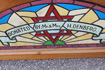 Arched Top Antique Victorian Stained Glass Window Architectural Salvage Church 6