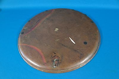 """Vintage Middle East Hand Engraved Heavy Solid Copper 12 1/2"""" Wall Hanging Plate 5"""