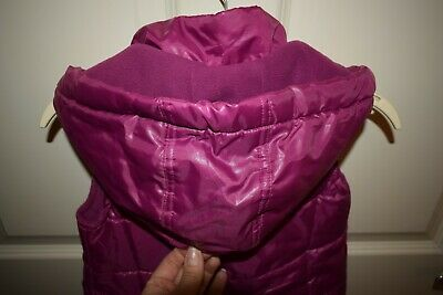 New Girls Purple Hooded Gillet Size 2-3 Years 3