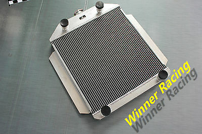56mm radiator for Ford Car w/flathead V8 engine M/T 1949-1953 aluminum Deluxe