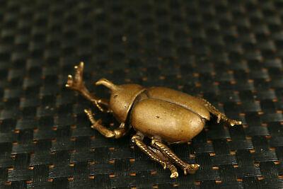 unique bronze 3 a set beetle Statue figure netsuke tea tray decorate tea pet 6