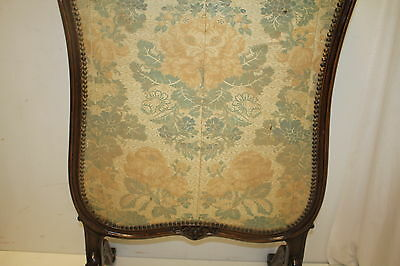 French louis XV Fireplace Screen with Original Fabric, From France, Circa 19th 12
