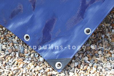 Blue Extra Heavy Duty Waterproof Tarpaulin Tough Tarp Ground Sheet Cover 350GSM 2