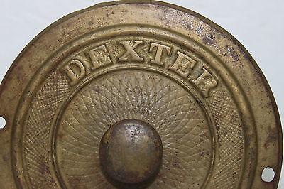 """Vintage Antique DEXTER 5 1/2"""" Steel Drain Stop Cover - Art Deco Design Steampunk 2"""