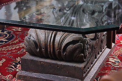 19C American J.P. Morgan N.Y.C. Bank Monumental Carved Acanthus Corbels 12