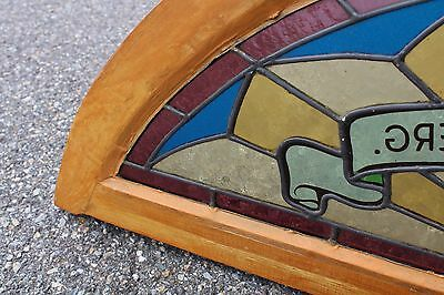 Arched Top Antique Victorian Stained Glass Window Architectural Salvage Church 12