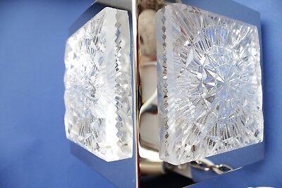 Swedish vintage brass chrome plated Crystal ORREFORS VINTAGE  LAMP 8