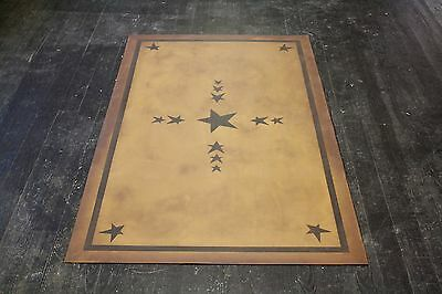 "Floorcloth 3'X5' ""FIFE"" Beautiful Hand-Painted Primitive Colonial Area Rug 3"