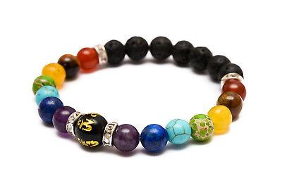 7 Chakra Crystal Stones Bracelet. Healing Beads Jewellery. Mala Reiki anxiety 7