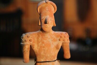 Pre Columbian Pottery Figure of Standing Woman 3