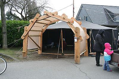 DER KÖNIGSBOGEN CARPORT Unterstand Holz Pavillon Bausatz Überdachung ...