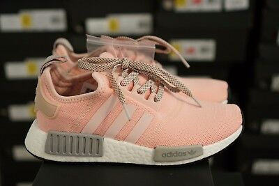 ADIDAS NMD R1 BY3059 Womens RARE Vapor Pink Grey Onyx Boost limited